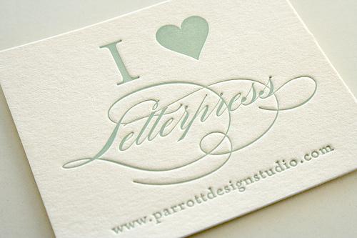 I heart  letterpress (c) Sarah Parrott